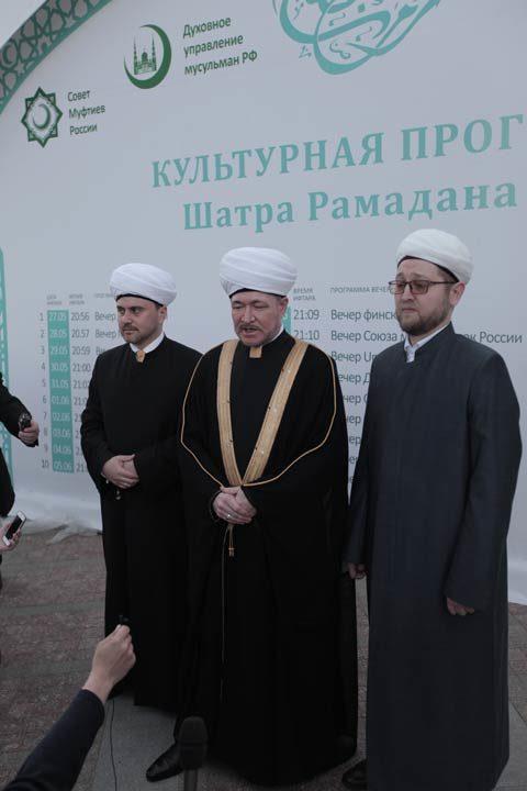 Шейх Равиль Гайнутдин: «Надеемся, что Шатер Рамадана станет шатром познания».