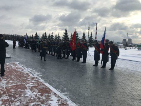 В Мытищах открыли мемориальную доску в память о погибших в катастрофе Ту-154