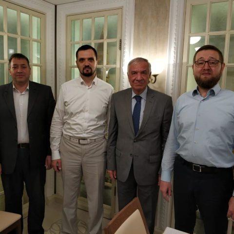 КЦ «Дар» посетил Генеральный директор управления исламскими фондами Иерусалима шейх Аззам Аль-Хатиб
