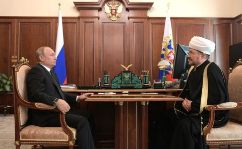 Встреча Президента Владимира Путина и Муфтия Шейха Равиля Гайнутдина