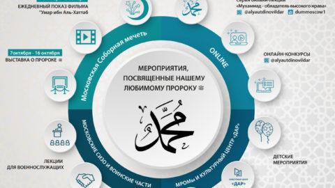 В Москве пройдут мероприятия, посвящённые месяцу Раби уль-Авваль